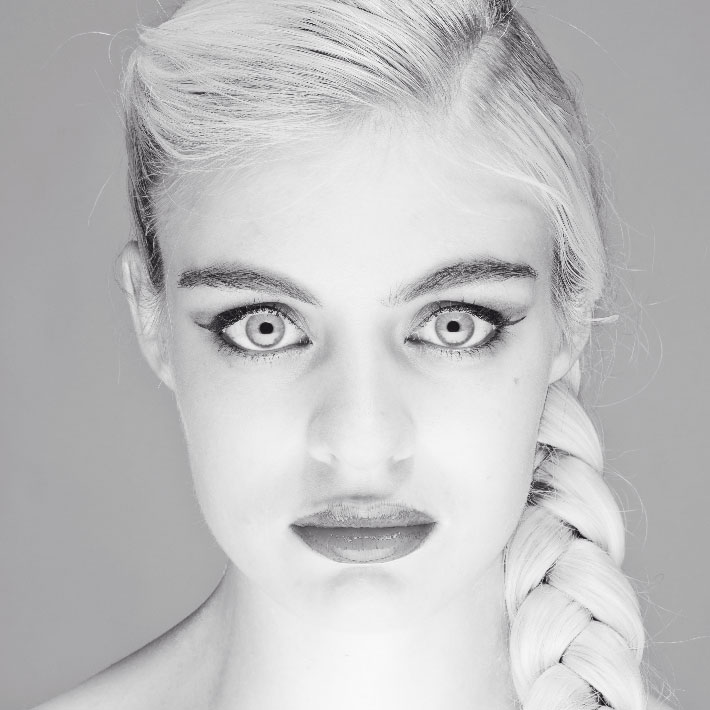 photo; portrait de beauté; flash studio